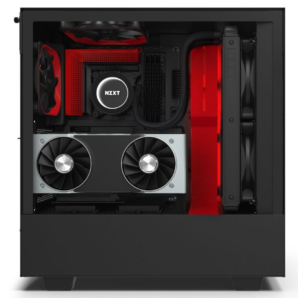 NZXT H510i Matte Black / Red Mid Tower Case